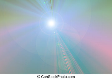 Flashing light - in foggy atmosphare