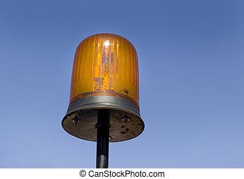 Flashing light - Close up of orange flashing light on...