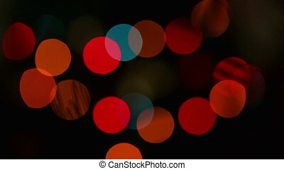 Flashing lights background, medium size
