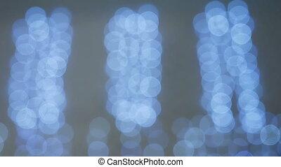 flashing lights blue garland hanging