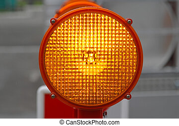 Flashing beacon lights for road works safety