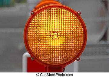 Flashing lights - Flashing beacon lights for road works...
