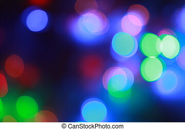 flashing lights in the night