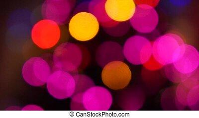 Flashing lights of the Christmas tree