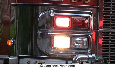 Flashing Lights On Firetruck - Flashing lights on a...