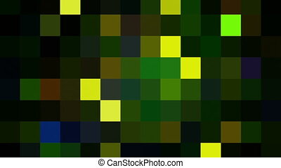 Flashing mosaic of pixels