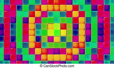 Flashing multi colored squares