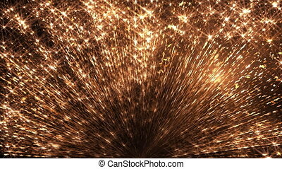 Flashing Particles Blast - Flashing particle blast abstract...