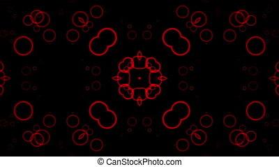 Flashing red circles