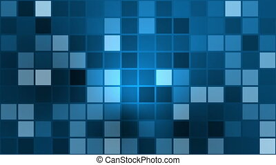 Flashing squares in blue color
