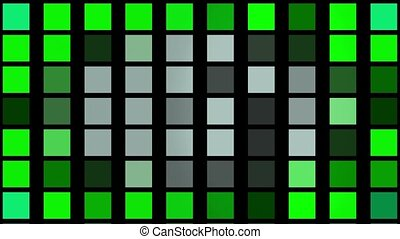 Flashing squares in green color