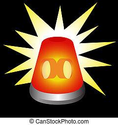 An image of a flashing warning light.