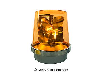 Flashing Yellow Light - This is a flashing yellow warning...
