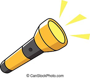 Doodle illustration of a flashlight