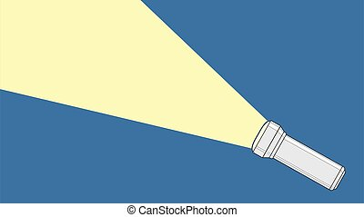 Flashlight from which a ray of light comes out