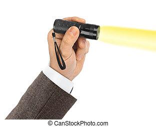 flashlight, hand