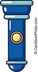Flashlight icon, cartoon style