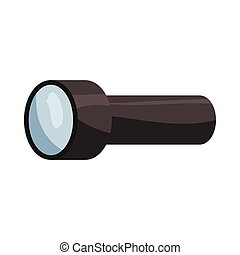 Flashlight icon, cartoon style