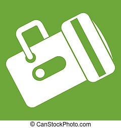 Flashlight icon green