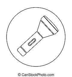 flashlight icon illustration design
