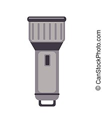 Flashlight icon in flat style. Vector illustration, isolated on white.