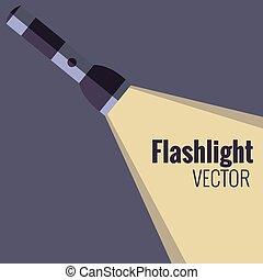 Flashlight  icon on night background isolated.