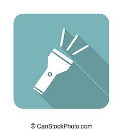 Flashlight icon, square