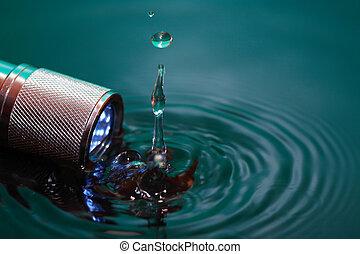 Flashlight In Water