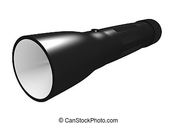 Flashlight isolated on white 3D render