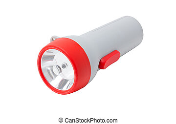 Flashlight isolated on white.