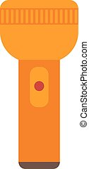 Flashlight, light, object icon vector image. Can also be ...