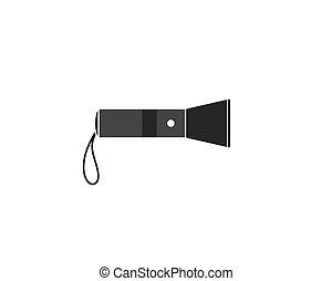 flashlight logo vector illustration