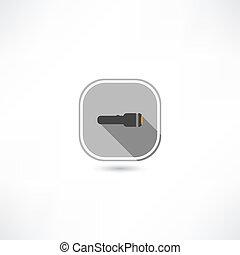 flashlight, pictogram