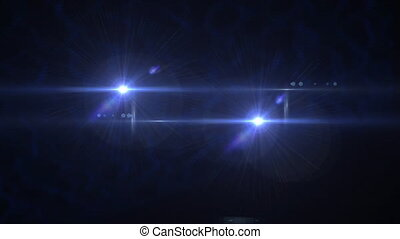 Flashlights flares motion background glow light bright blue video footage for design logo