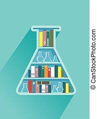 Flask Book Shelf Illustration - Illustration of a Flask ...