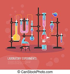 Flask chemistry equipment for laboratory or lab