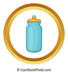 Flask for water vector icon