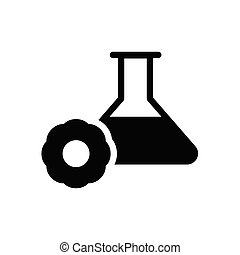 flask glyph flat icon