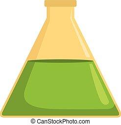Flask icon, cartoon style