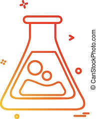flask lab icon vector design
