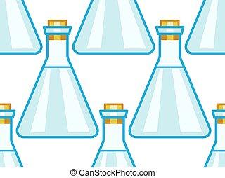Flask seamless pattern