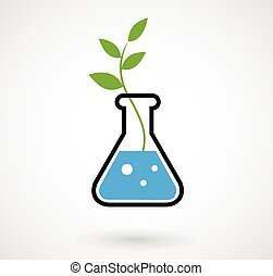 Flask with GMO sprout