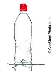 flaska, av, mineral vatten