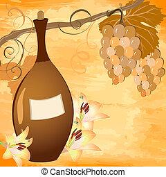 flaska, vin