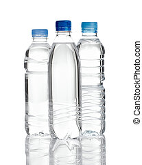 flaske, dring, plastik, vand