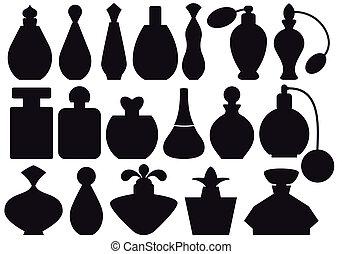 flasker, parfume