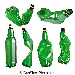 flasker, plastik