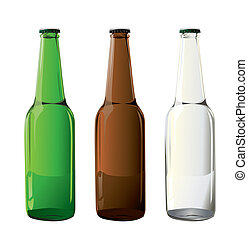 flaskor, öl, vektor