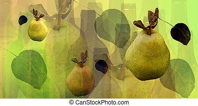 flaskor, päron