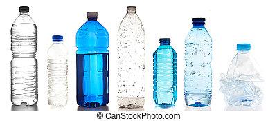 flaskor, plastisk